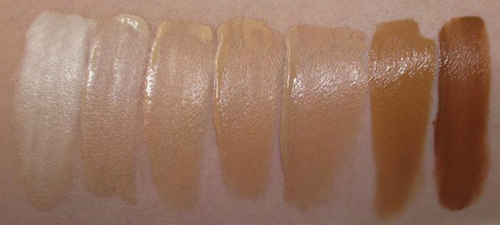 IT Cosmetics Bye Bye Lines Foundation Swatches