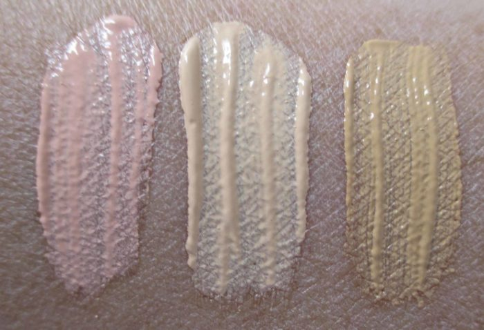 IT Cosmetics Perfect Lighting Swatches: Radiant Light, Radiant Neutral, and Radiant Honey