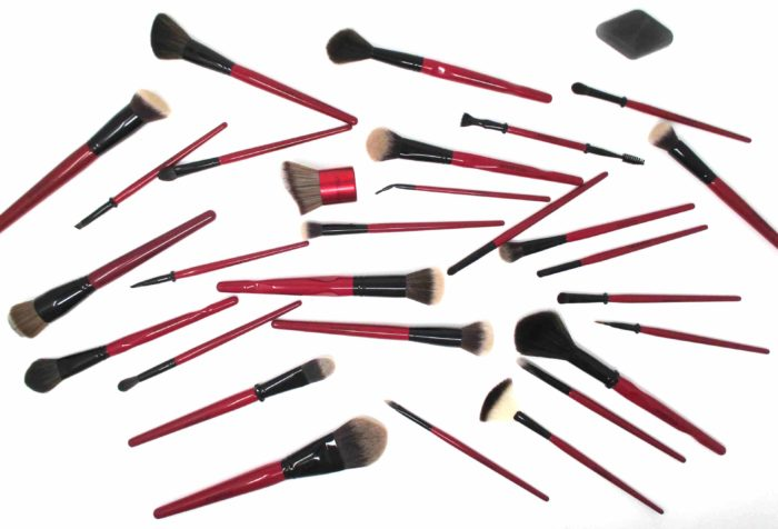 Gorgeous Red Makeup Brushes