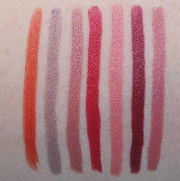 MAC Liptensity Lip Pencils, review, swatches