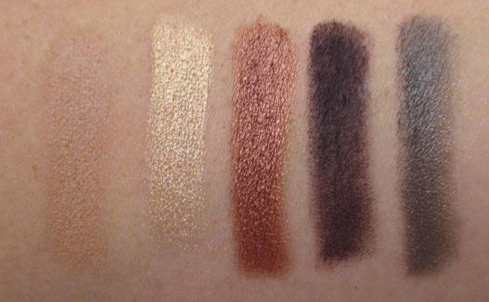 Smashbox Shadow + Contour + Blush Palette, Third Row Swatches