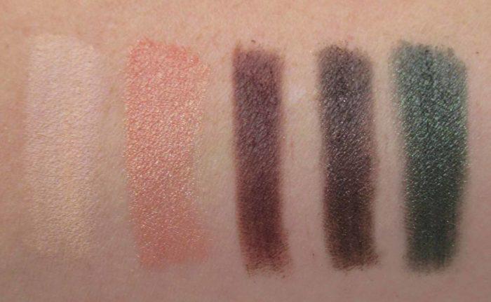 Smashbox Shadow + Contour + Blush Palette, Fourth Row Swatches