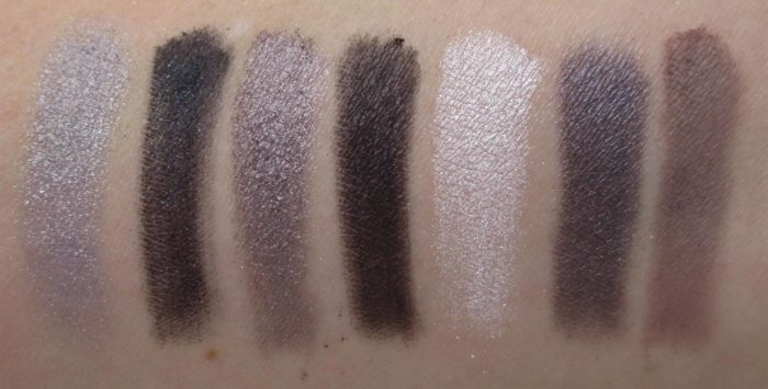Clinique Party Eyes Palette Swatches, All About Shadow Holiday 2017