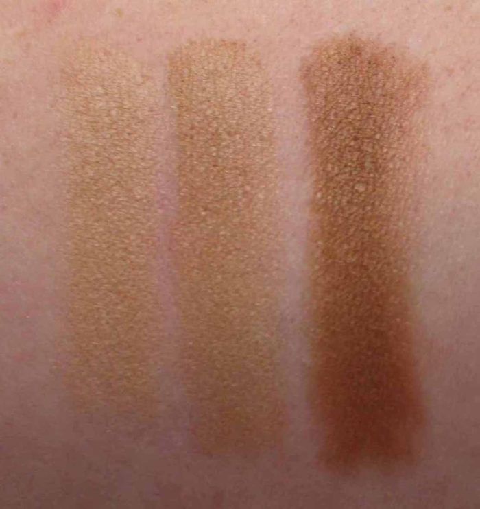 Maybelline City Bronzer Swatches, 100, 200, and 300, beauty blog, makeup blog, product reviews blog